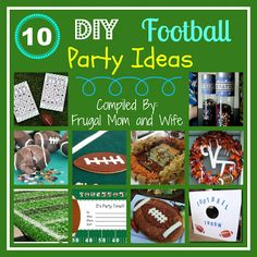 Frugal Mom and Wife: 10 DIY Football Party Ideas!