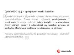Opinia GDD sp.j. - dystrybutor marki Steadtler #migomedia