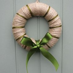Handmade Yarn Christmas Wreath