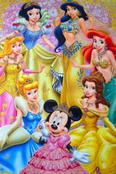 A crowd of Disney Princesses...
