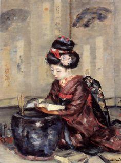 Women Reading - thomerama: Shirataki Ikounosuke