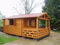 Casute din lemn & Casute de gradina Man Cave Shed, Tiny House Cabin, Cabin Plans, House Styles, Home Decor, Camping, Google, House Template, Houses
