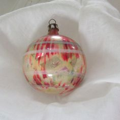 Vintage end of day ornament stripe glass ball by thevintageelf, $60.00