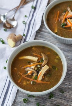 Fight off flu season with this Hot & Sour Miso Soup recipe!