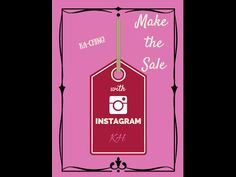 Learn how to connect with your audience and make the sale on #Instagram. Over 100 pages of lessons, worksheets, checklists, resources and much more!  Build a QUALITY following and clientele. Available now for only $19.99...includes LIFETIME access to program and updates at no additional costs. http://www.katherinehiraldo.com/make-the-sale-with-instagram/