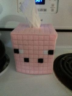 Minecraft Pig Inspired Boutique Size Tissue Box Cover