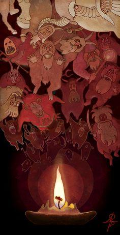 "#Veles , #slavic_gods, #mythology ""Last Day of the Old Year"" http://vesemir.blogspot.ru/2014/12/blog-post_30.html"