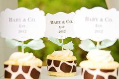 Cute Tiffany's cupcakes #babyshower #tiffanys