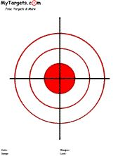 Bullseye Target With 2 Inch Red Center