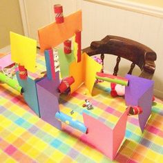 Simple Craft For Kids - Cardboard Tube Construction Set