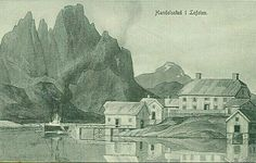 Kunstnerkort Thorolf Holmboe Handelssted i Lofoten