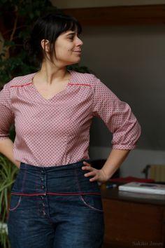 Blouse Airelle, patron Deer&Doe  Airelle blouse, pattern from Deer&Doe