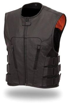 Men's Updated Bullet Proof Style Swat Vest Single Panel Back…
