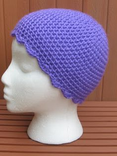 Crochet Chemo Sleep Cap ~ free pattern**Thanks for share!-- close to my heart as I lost my mom to Breast Cancer in Sep/2008- there are so many more cute options now!!**