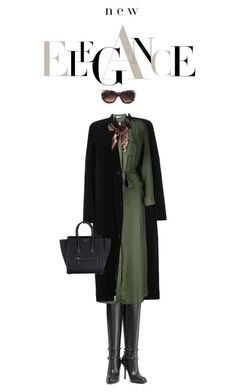 """""""The Rich"""" by drigomes ❤ liked on Polyvore featuring Rick Owens, Valentino, P.A.R.O.S.H., Roberto Cavalli, CÉLINE and Oliver Goldsmith"""