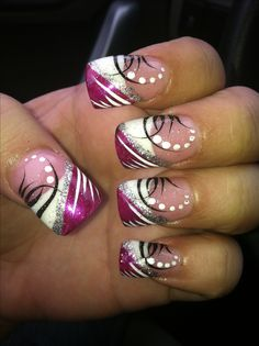 You should stay updated with latest nail art designs, nail colors, acrylic nails Fingernail Designs, New Nail Designs, Nail Designs Spring, Acrylic Nail Designs, Acrylic Nails, Fancy Nails, Pink Nails, Cute Nails, Pretty Nails