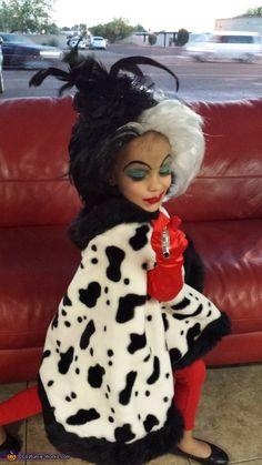 cruella deville face painting | Cruella DeVil - Homemade costumes for girls
