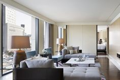 Explore Seoul, South Korea from JW Marriott Dongdaemun Square Seoul, a luxury city center hotel with modern rooms, elegant event venues and a day spa. Living Area, Living Spaces, Livng Room, Interior Architecture, Interior Design, H Design, Hotel Interiors, Hotel Suites, Model Homes