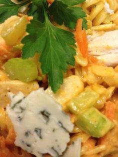 Bleu Cheese Buffalo Chicken Pasta Salad
