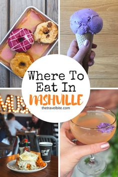 Nashville are endless! Here are our recommendations for all the delicious must-eats in the city, as well what to see and do . including America's FIRST layered candy bar, a whisky distillery with a fascinating history, and of course, the music scene! Nashville Things To Do, Nashville Food, Nashville Vacation, Tennessee Vacation, Nashville Tennessee, Best Restaurants In Nashville, Visit Tennessee, Nashville Must Do, Nashville Bars