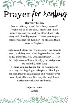 Short Prayer For Healing and Recovery - Lifeloveandlittles