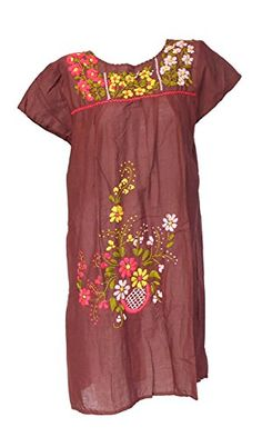 Bonya Women's Embroidered Mexican Tunic Short Dress - Bro... https://www.amazon.com/dp/B01H5Q9J3A/ref=cm_sw_r_pi_dp_EovzxbY3VR2KZ