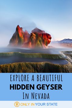 Discover a lesser-known Nevada geyser that was named among the most stunning spots in the US. The unique attraction was actually the result of a drilling mistake but it's been growing for decades. World Most Beautiful Place, Beautiful Places, Amazing Places, New England Travel, New York Travel, Unique Vacations, Hidden Beach, Travel Oklahoma, Walking In Nature