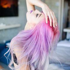 Image via We Heart It #girl #grunge #hair #lilac #lips #pale #pastel #pink
