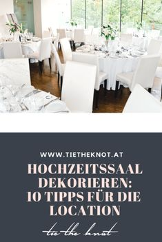 Decorate wedding hall: 10 tips for the perfect decoration of the location - Hall idea Wedding Tips, Wedding Venues, Wedding Planning, Wedding Stuff, Dining Bench, Table Decorations, How To Plan, Furniture, Home Decor