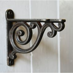 Home Accessories & Wall Decor - We have a great selection of home decor and wall accessories prefect for decorating your home and available from Bowley & Jackson Decorative Shelf Brackets, Metal Shelf Brackets, Wall Shelf Decor, Vintage Shelf, Iron Shelf, Iron Work, Scroll Design, Steel Doors, Wood Shelves