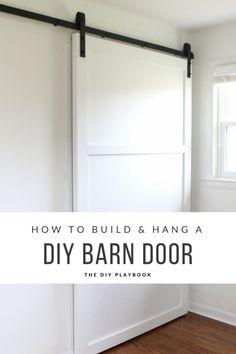 DIY Barn Door Tutorial