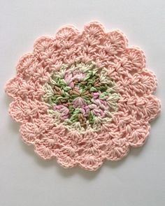 Picture of Dishcloths In The Round Crochet Pattern Set - i dislike colors but easily remedied