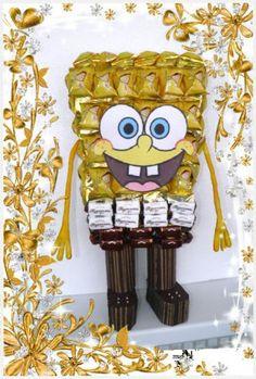 Хочу с Вами поделится МК по созданию любимого детками мультяшного героя Губки Боба.