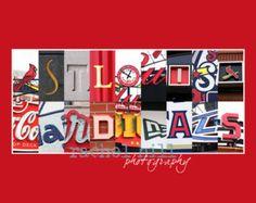 St. Louis Cardinals Letter Art 8x10 print by rachelhill on Etsy
