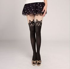 New Arrival Women Girls Fashion Cute Silk Stockings Pantyhose Pattern Jacquard Cat  Pattern Big Size Stockings N0453-in Stockings from Apparel & Accessories on Aliexpress.com   Alibaba Group
