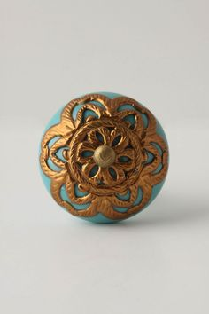 Lace Strewn Knob...this could give any old piece of furniture an 'up-do'!