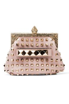 Who needs Chanel if you have the option to choose this spectacular studded clutch by Valentino? I want!