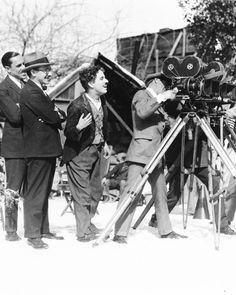 Charlie Chaplin photographed while directing The Gold Rush, 1925