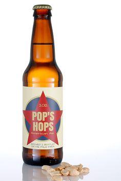 Pop's Hops custom beer bottle label!  Personalized your own at BottleYourBrand.com