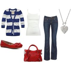 4th of July outfit?? Cute and casual for nighttime :)