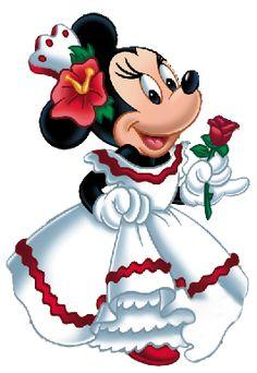 Minnie around the world Disney Umění, Bugs Bunny, Parky Disney World, Kreslený Komiks