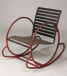 rocking chair, anonyme, vers 1930, ©liveauctioneers.com