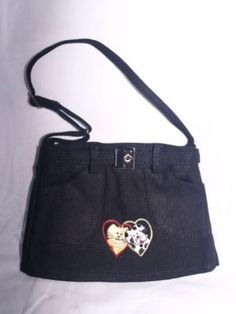 cute little Angel purse denim with cat and dog on front Here is our store link is http://stores.ebay.com/store4angels?refid=store