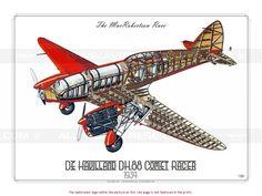 ROYAL AIR FORCE (WW2) .1934 /  De Havilland DH.88 Comet Racer