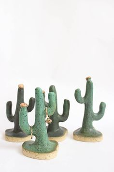 Cactus Ring Holders. Handmade ceramics from Baba Souk