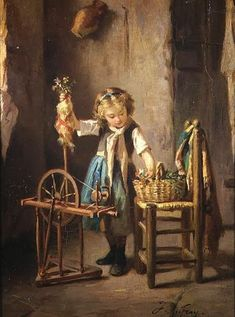 The spinning wheel, a device that emerged in Asia by the 11th century, replaced little by little the process of hand-spinning with spindle a...