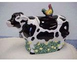 Black and White Holstein Cow Cookie Jar  $25.00