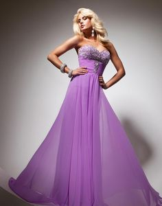 Светло-фиолетовое платье