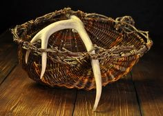 Willow Antler Basket with Boston Ivy rim by Mark Hendry for OATree.com