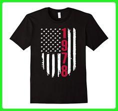 Mens 1978 American Flag 39th Birthday Gifts Funny T-Shirt Medium Black - Birthday shirts (*Amazon Partner-Link)